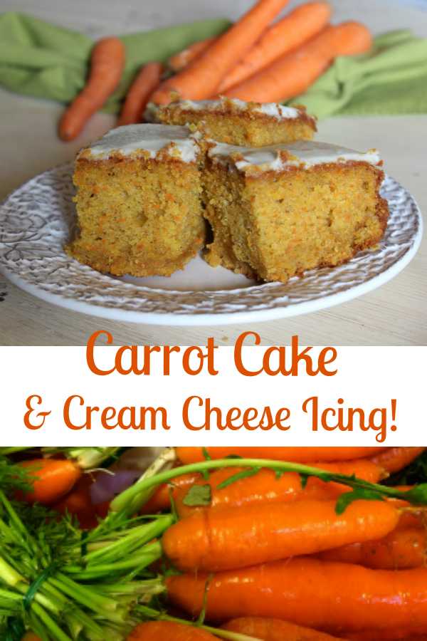 Carrot Cake with Cream Cheese Frosting: luscious and moist...make it all in the food processor!