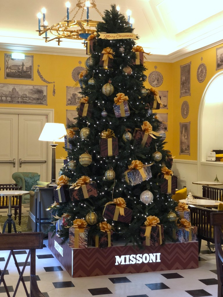 Hotel della Ville Christmas tree by Missoni