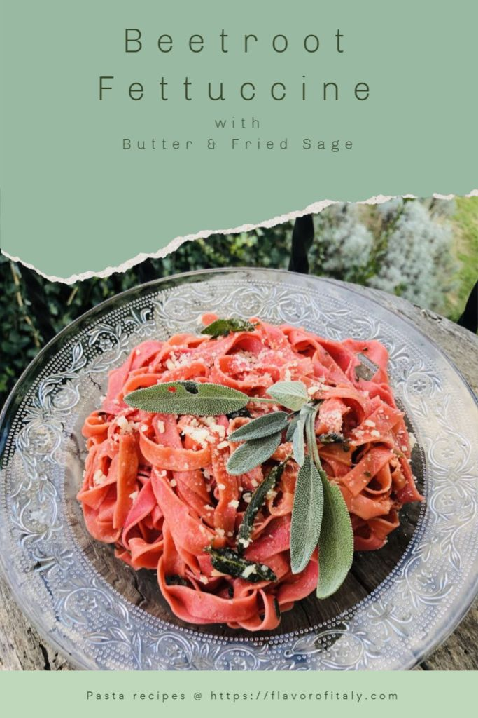 Delicious Beetroot Fettuccine with Butter and Sage
