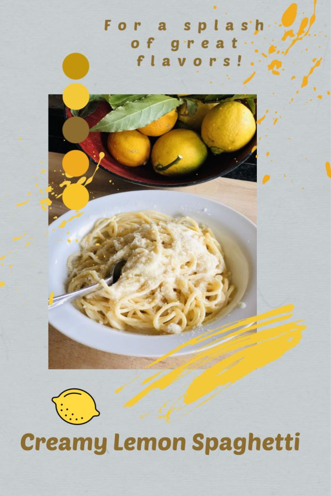 Creamy Lemon Spaghettis, for a splash of fresh lemony flavor!