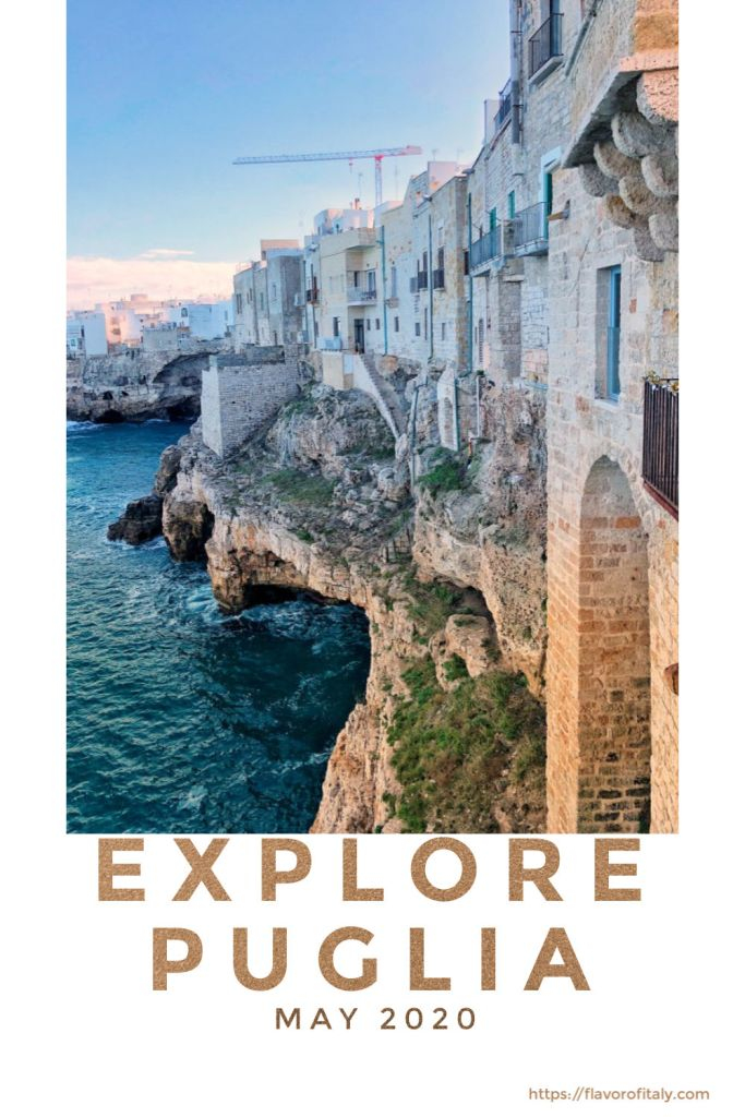 Explore Polignano a Mare in Puglia that seems to spill into the Adriatic Sea!