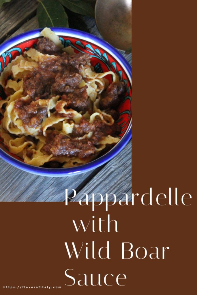 Luscious pasta with wild boar sauce