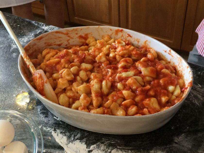 Potato Gnocchi with a rich tomato sauce