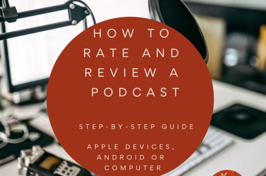How to rate and review a podcast episode