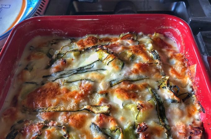 Zucchini Parmesan & Prosciutto is it delicious and cheesy way to use summer zucchini from your garden