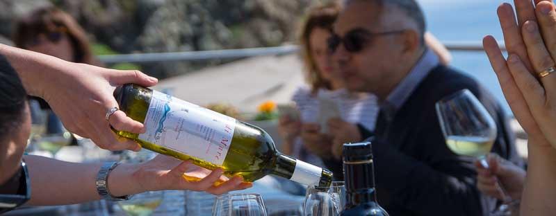 Delicious Vermentino wine in Liguria