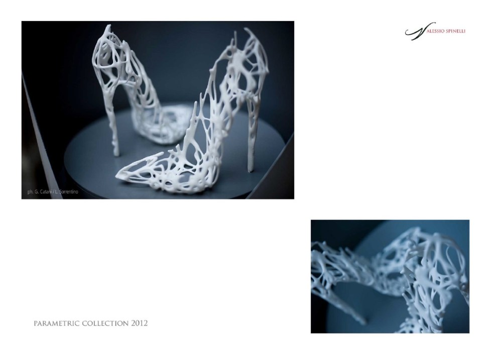 Parametric shoes designed by Alessio Spinelli