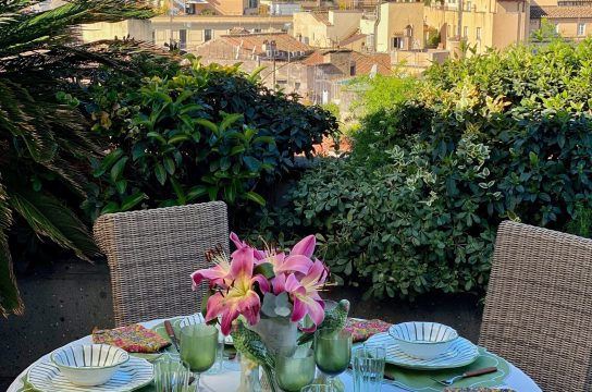 One of the magnificent terrace views you can enjoy in a cooking class with Vios Cooking in Rome