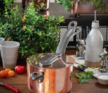 There's no better holiday gift for the cook than a gorgeous copper pan like this one