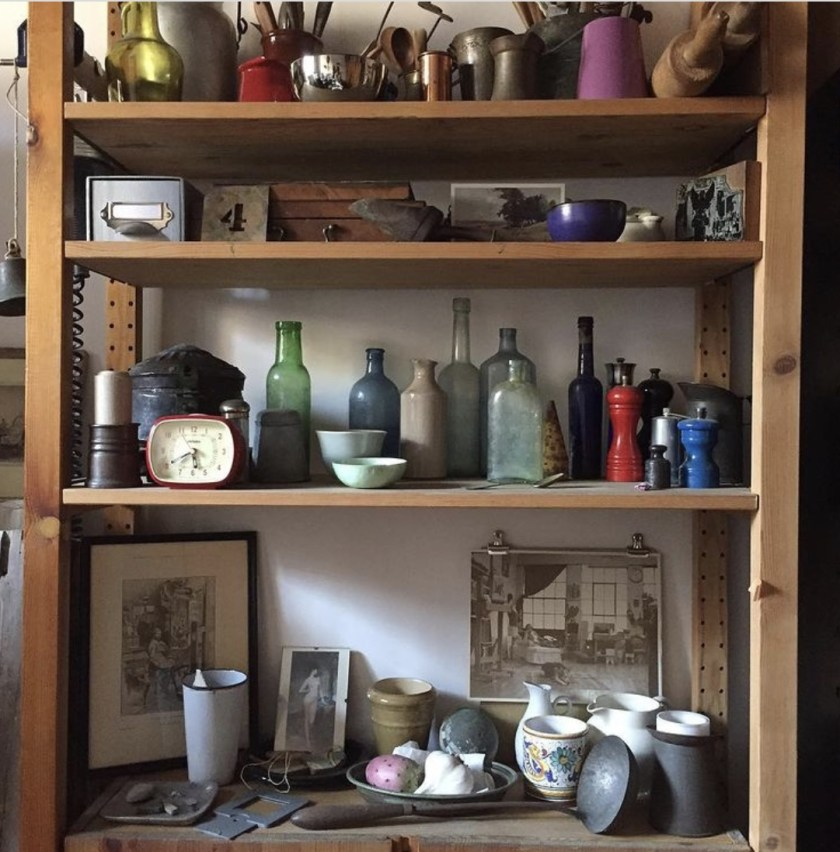 Props Andrea Smith uses in her still life painting