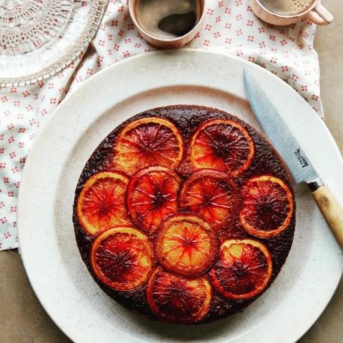 Blood Orange, Ricotta Polenta Cake from Bitter Honey, Sardinian inspired cookbook by Letitia Ann Clark