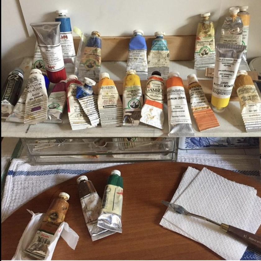 Oil paints are the tools of Andrea Smith's trade