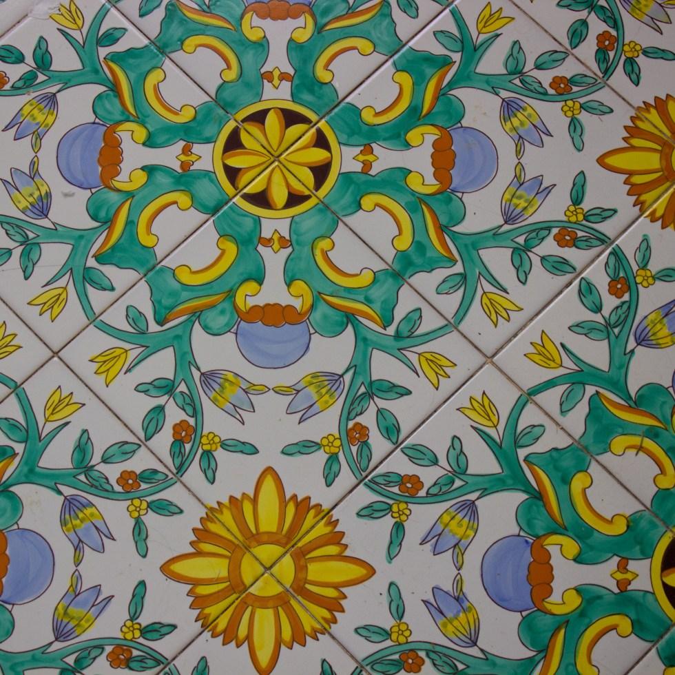De Maio hand-painted Italian ceramic floor tiles from Vietri
