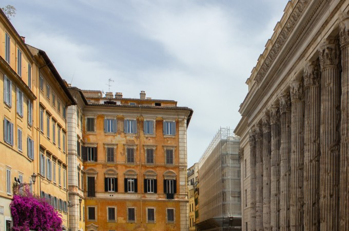 Piazza di Pietra is a gorgeous piazza in the center of Rome