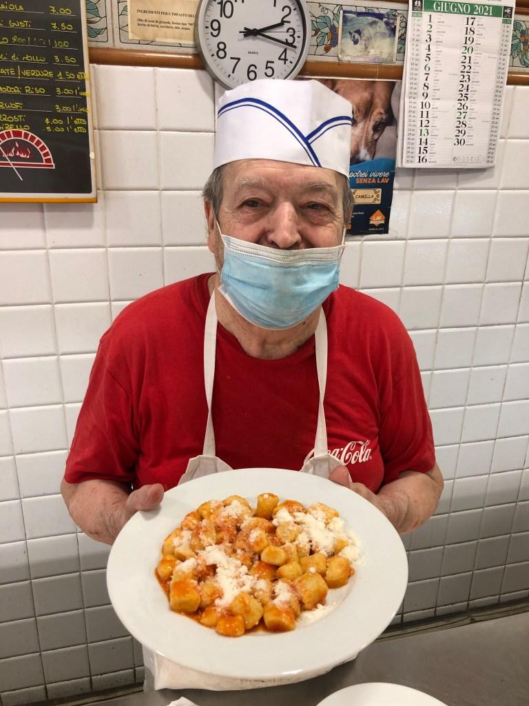 Antonio from Pizza House and his homemade potato gnocchi