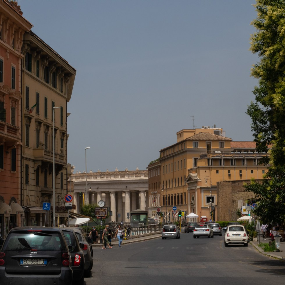 Cavallaggeri neighborhood looking towards the Vatican