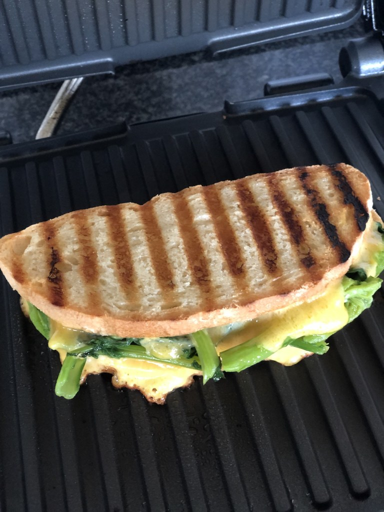grilled sandwich on a panino press