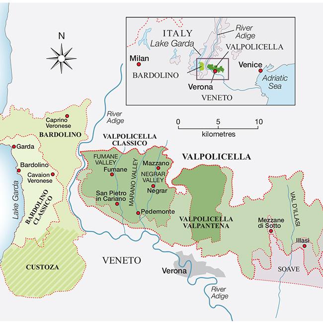 Amarone wine map - Credit: Decanter/ Maggie Nelson
