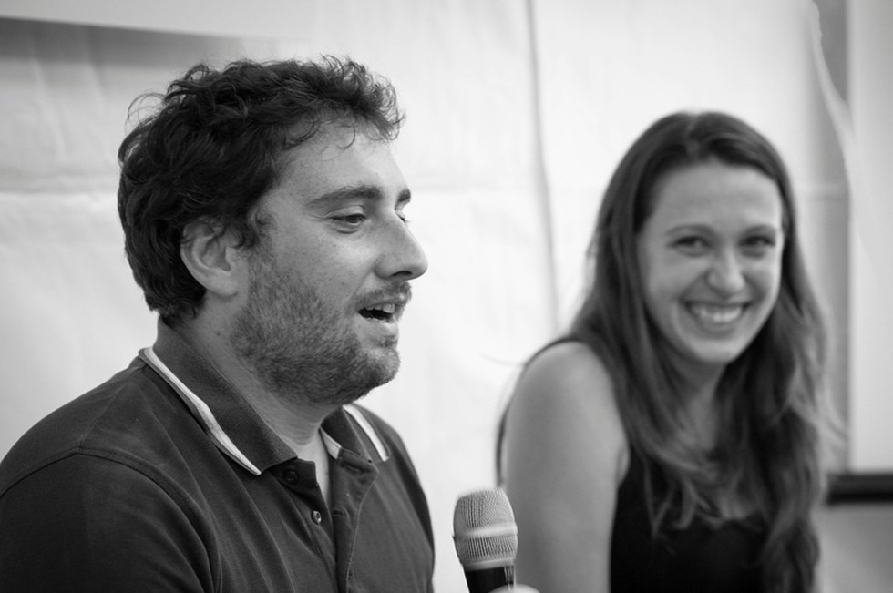 Nicola and Michela, owners and creators of the organic Alba Farm in Molise
