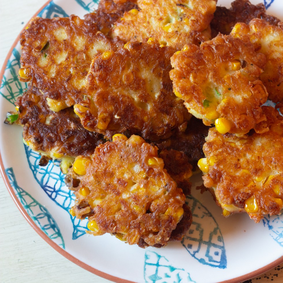 Corn Fritters plated