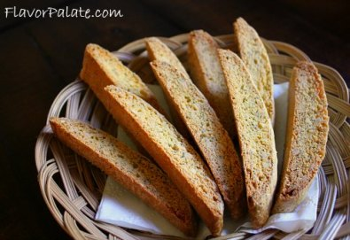 Almond Lemon Poppyseed Biscotti
