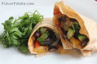 Black Bean and Veggie Wraps