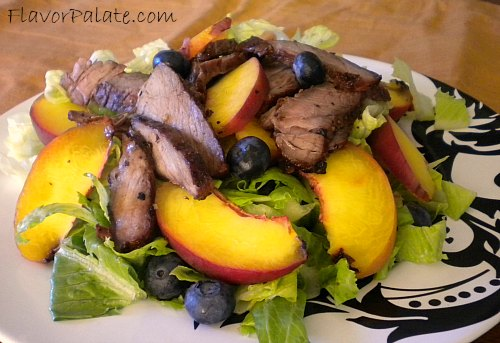 Peach and Flank Steak