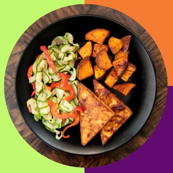 Sriracha BBQ Tofu MyPlate Bake