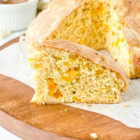 Apricot Orange Irish Soda Bread is rustic and crusty and studded with chopped apricots and orange zest!