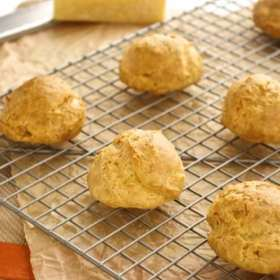 gougeres on wire rack