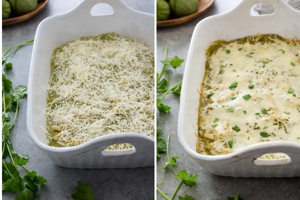 chicken-verde-enchialda-bake-process-collage2