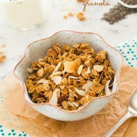 almond coconut chia seed granola1 flavorthemoments.com
