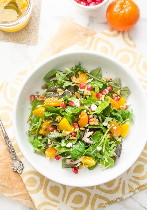 golden-beet-orange-pomegranate-salad3 | flavorthemoments.com