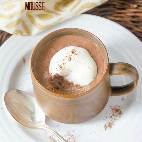 chocolate mocha mousse with bite taken out