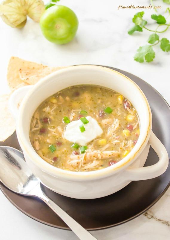 slow-cooker-chicken-salsa-verde-tortilla-soup3   flavorthemoments.com
