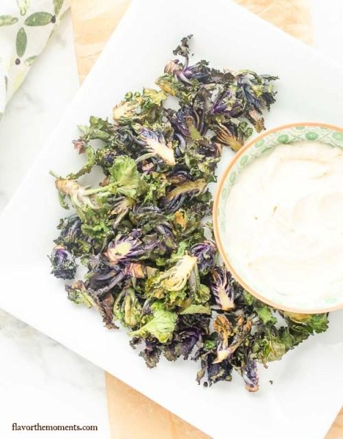 crispy-roasted-kalettes-with-light-garlic-parmesan-dip   flavorthemoments.com