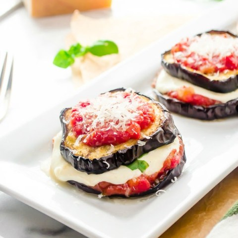 Grilled Eggplant Parmesan Stacks