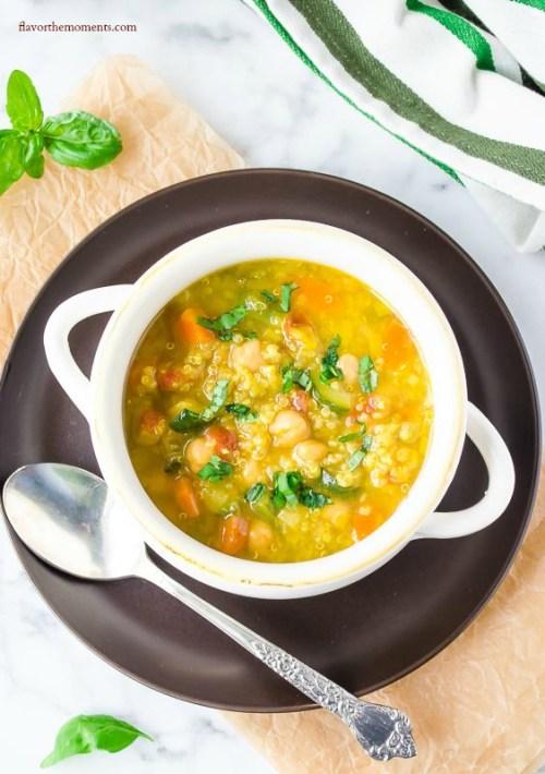 saffron vegetable soup with quinoa3 | flavorthemoments.com