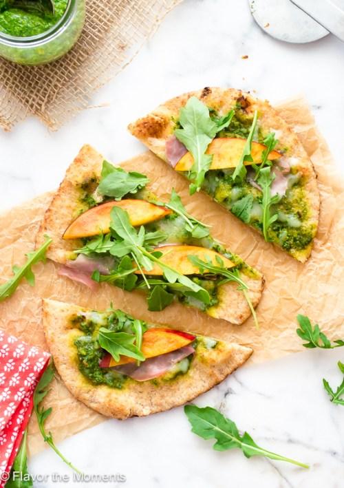 grilled-flatbread-pizza-with-arugula-pesto-nectarines-and-prosciutto3-flavorthemoments.com