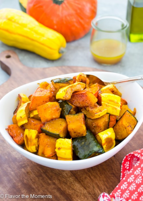 Chili Maple Roasted Winter Squash | flavorthemoments.com