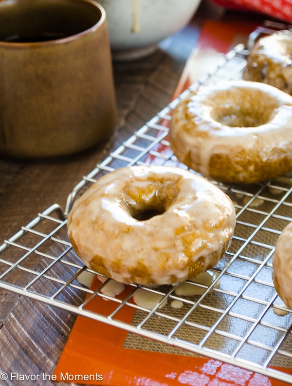 Espresso Glazed Baked Pumpkin Donuts Flavor The Moments
