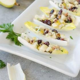 Endive Salad Bites on a platter