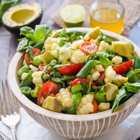 Summer Succotash Salad with Tangy Lime Vinaigrette