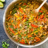One Pot Thai Peanut Veggie Pasta
