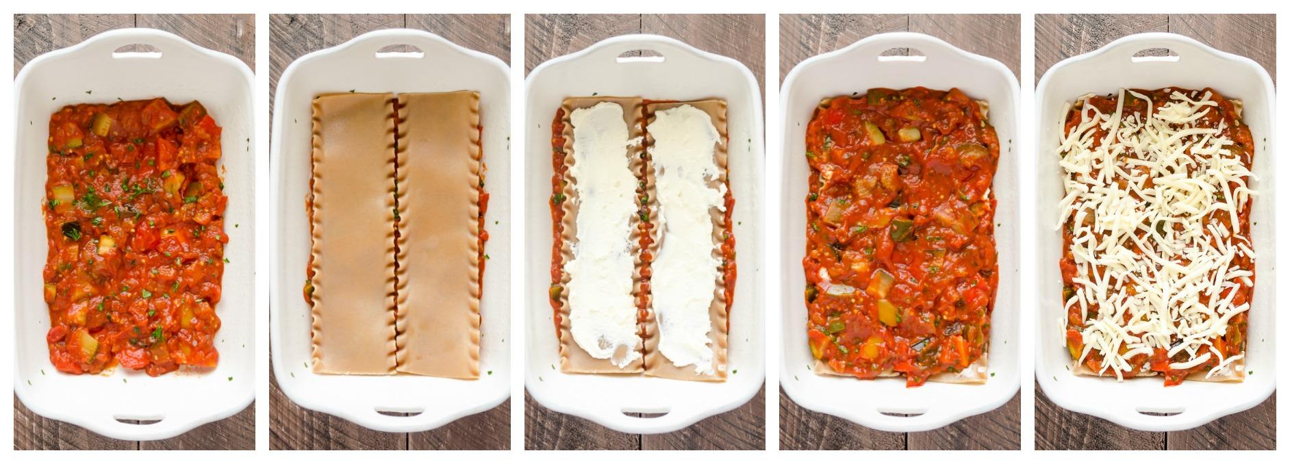 Ratatouille Lasagna process