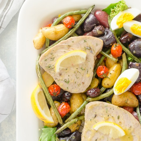 30 Minute Sheet Pan Tuna Nicoise