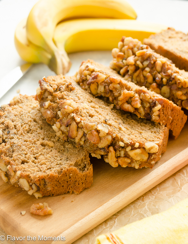 Perfect One Bowl Banana Nut Bread is a lightened up, whole grain banana nut bread that's perfectly moist and made all in one bowl! @FlavortheMoment