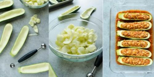 chicken-parmesan-stuffed-zucchini-boats-process