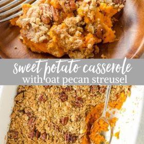 maple orange sweet potato casserole collage