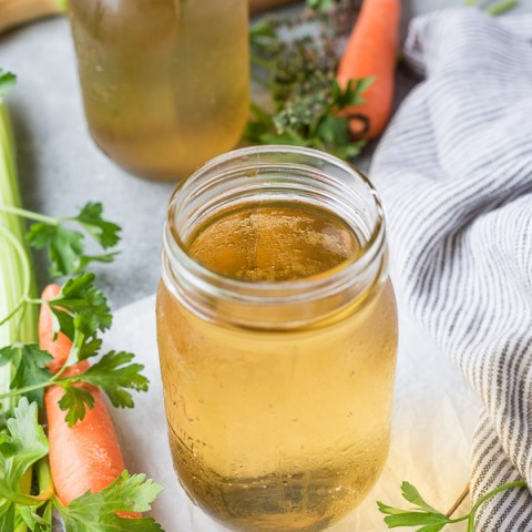 Instant Pot Homemade Vegetable Stock